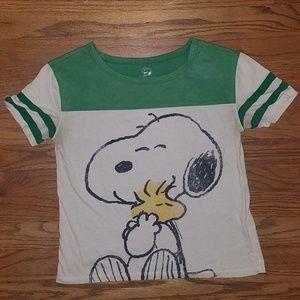 Snoopy & Woodstock Graphic Tee Shirt